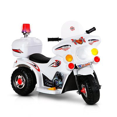 Kids Ride on Motorbike White - Free Shipping