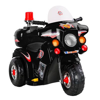 Kids Ride on Motorbike - Black - Free Shipping