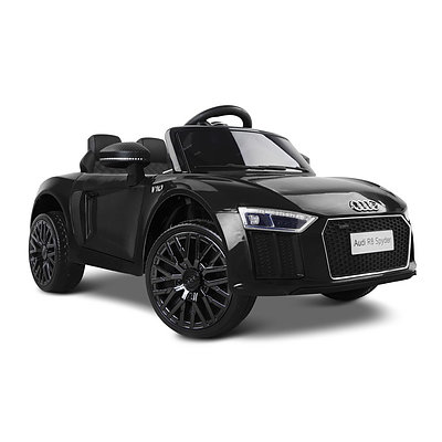 Kid's Electric Ride on Car Licensed Audi R8 - Black - Free Shipping