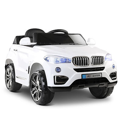 BMW Style X5 Electric Toy Car - White - Free Shipping