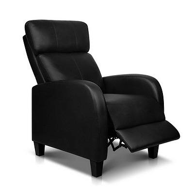 Faux Leather Armchair Recliner - Black - Brand New - Free Shipping