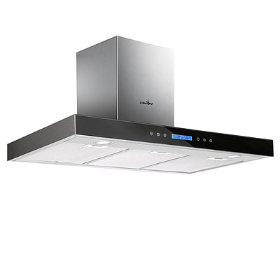 900mm Rangehood with Black Tempered Glass - Brand New - Free Shipping