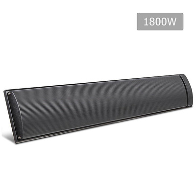 1800W Electric Heater Panel - Black - Free Shipping