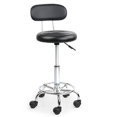 PU Leather Swivel Chair with Backrest - Black - Brand New - Free Shipping