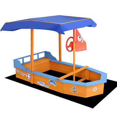 Boat-shaped Canopy Sand Pit - Brand New - Free Shipping