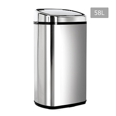58L Stainless Steel Motion Sensor Rubbish Bin  - Brand New - Free Shipping