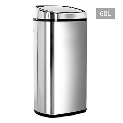 Stainless Steel Motion Sensor Rubbish Bin- 68L - Brand New - Free Shipping