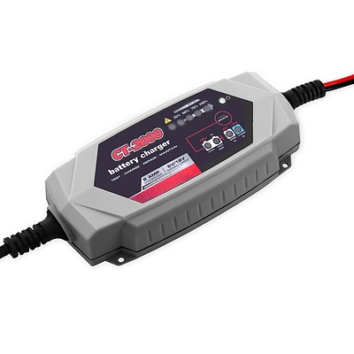 Smart Battery Charger 2A 12V 6V Automatic SLA AGM Car Truck Boat Motorcycle Caravan