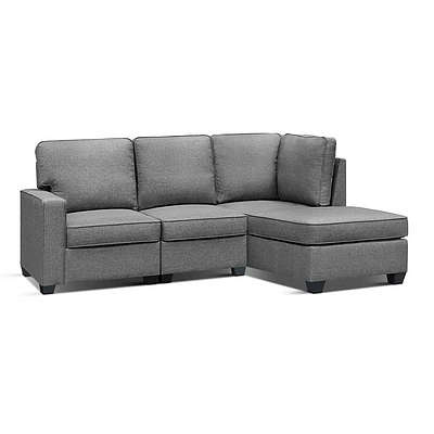 Sofa Lounge Set 4 Seater Modular Chaise Chair Suite Couch Fabric Grey