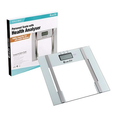 Electronic Digital Body Fat & Hydration Bathroom Glass Scale White - Brand New - Free Shipping