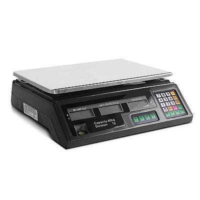 Electronic Computing Platform Digital Scale 40kg Black - Free Shipping