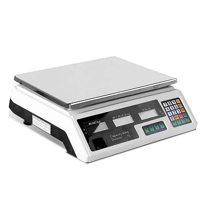 Electronic Computing Platform Digital Scale 40kg White - Free Shipping