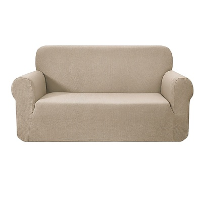 High Stretch Sofa Cover Couch Protector Slipcovers 2 Seater Sand - Brand New - Free Shipping