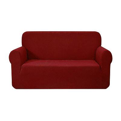 High Stretch Sofa Cover Couch Protector Slipcovers 2 Seater Burgundy