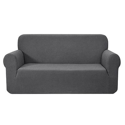 High Stretch Sofa Cover Couch Protector Slipcovers 3 Seater Grey