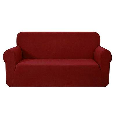 High Stretch Sofa Cover Couch Protector Slipcovers 3 Seater Burgundy