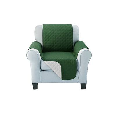 Sofa Cover Quilted Couch Covers Protector Slipcovers 1 Seater Green