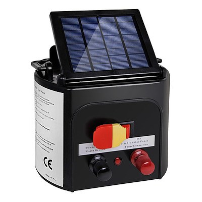 5km Solar Power Electric Fence Energiser Charger - Brand New - Free Shipping