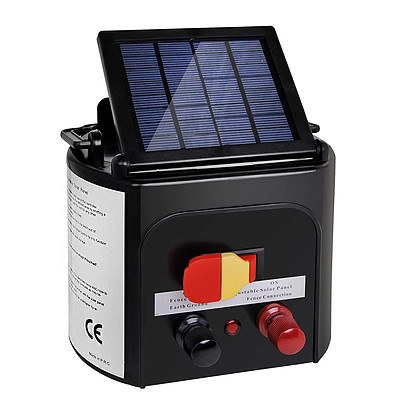Solar Power Electric Fence Energiser Energizer Charger 8Km / 0.3J - Free Shipping