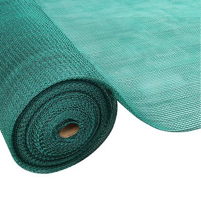 Instahut 1.83x20m 30% UV Shade Cloth Shadecloth Sail Garden Mesh Roll Outdoor Green - Free Shipping