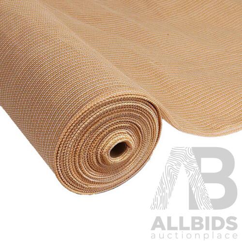 3.66 x 30m Shade Sail Cloth - Beige