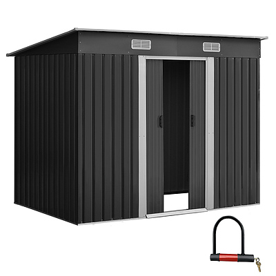 Giantz 2.35 x 1.31m Steel Garden Shed - Grey - Brand New - Free Shipping