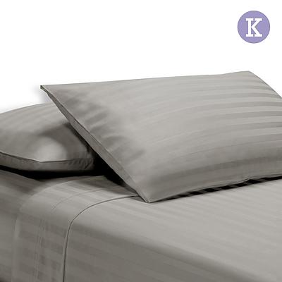 King Size 4 Piece Bedsheet Set - Grey - Free Shipping