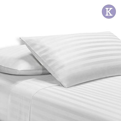 King Size 4 Piece Bedsheet Set - White - Free Shipping