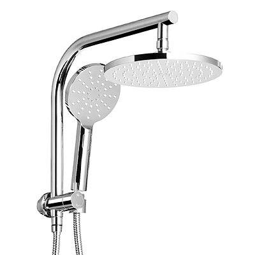 9 inch Rain Shower Head Round Wall Bathroom Arm Handheld Spray Bracket Rail Chrome - Brand New - Free Shipping