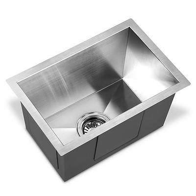 Stainless Steel Kitchen Laundry Sink with Strainer Waste 450 x 300mm - Brand New - Free Shipping
