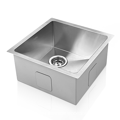 Stainless Steel Kitchen/Laundry Sink with Strainer Waste 440 x 440 mm - Brand New - Free Shipping