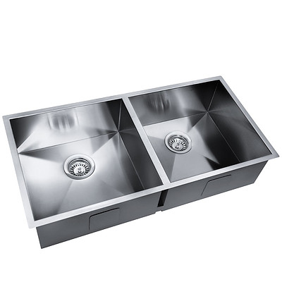 Stainless Steel Kitchen/Laundry Sink with Strainer Waste 865x440mm - Brand New - Free Shipping