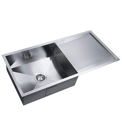 Stainless Steel Kitchen/Laundry Sink with Strainer Waste 960x450mm - Brand New - Free Shipping