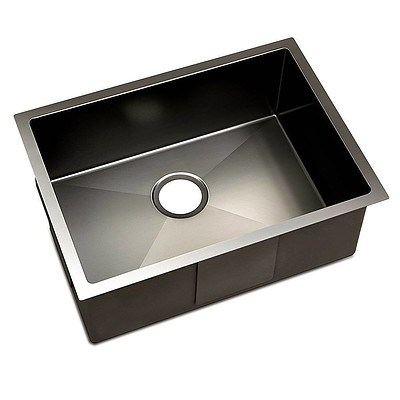 600 x 450mm Stainless Steel Sink - Black - Brand New - Free Shipping