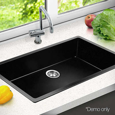 790 x 450mm Granite Double Sink - Black - Brand New - Free Shipping
