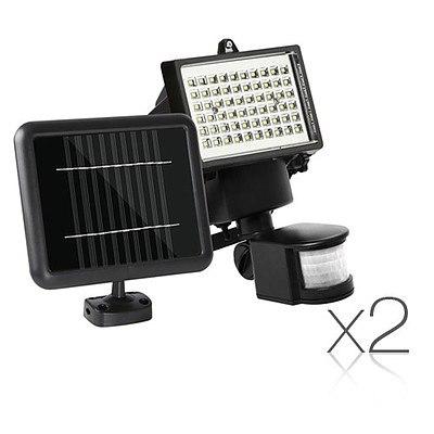 Set of 2 60 LED Solar Sensor Outdoor Light - Brand New - Free Shipping