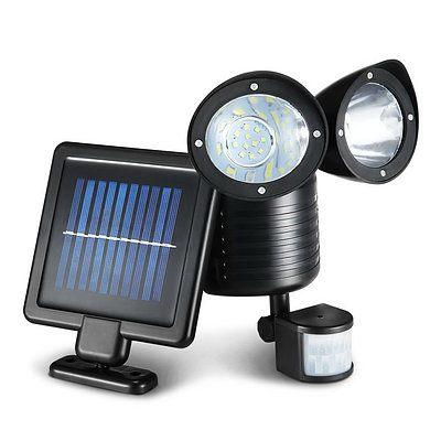 22 LED Solar Powered Dual Flood Lamp - Free Shipping