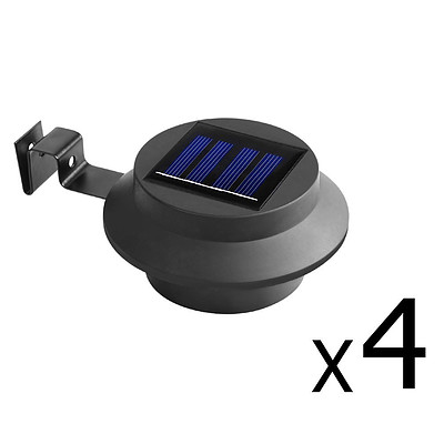 4 x Solar Gutter Light - Black - Free Shipping
