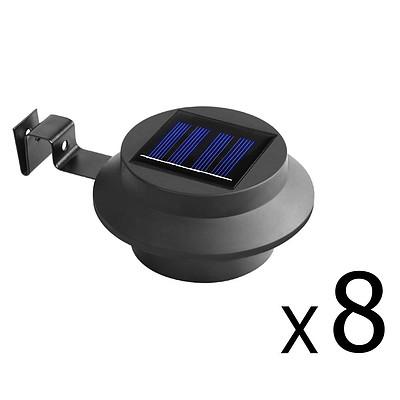 Set of 8 Solar Gutter Light - Black - Free Shipping