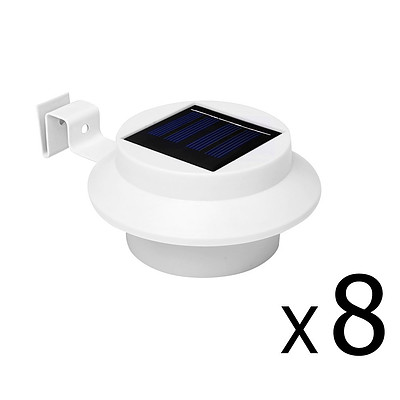 Set of 8 Solar Gutter Light - White - Brand New - Free Shipping