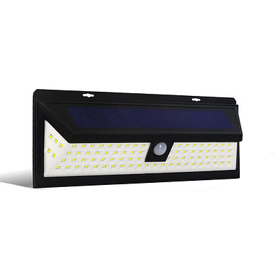 86 LED Solar Powered Senor Light - Black - Free Shipping
