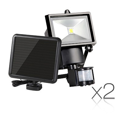 Set of 2 5W COB LED Solar Security Lights  - Free Shipping