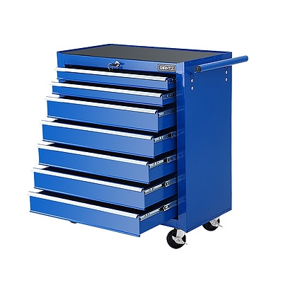 Tool Chest and Trolley Box Cabinet 7 Drawers Cart Garage Storage Blue - Brand New - Free Shipping