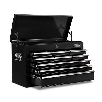 9 Drawers Tool Box Chest Black - Free Shipping
