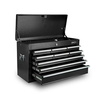 9 Drawer Mechanic Tool Box Storage Chest - Black - Free Shipping