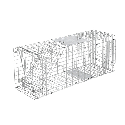 Humane Animal Trap Cage 66 x 23 x 25cm  - Silver - Brand New - Free Shipping