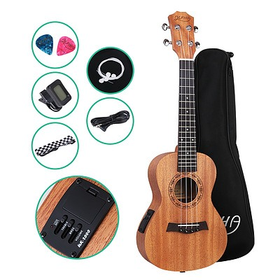 26 Inch Tenor Ukulele Electric Mahogany Ukeleles Uke Hawaii Guitar with EQ - Brand New - Free Shipping