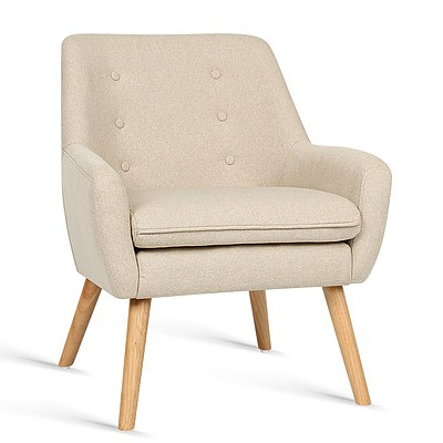 Fabric Dining Armchair - Beige - Brand New - Free Shipping