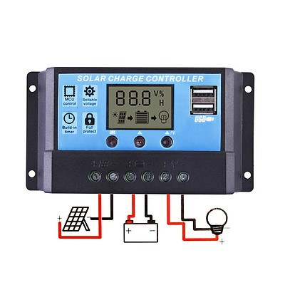 12V-24V 20A LCD Display PWM Solar Panel Regulator Charge Controller Timer PWN - Brand New - Free Shipping
