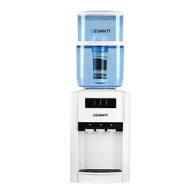 22L Bench Top Water Cooler Dispenser Filter Purifier Hot Cold Room Temperature Three Taps - Brand New - Free Shipping